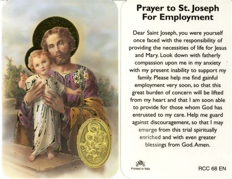 st joseph prayer to buy a house prayer to st joseph to obtain employment my prayers