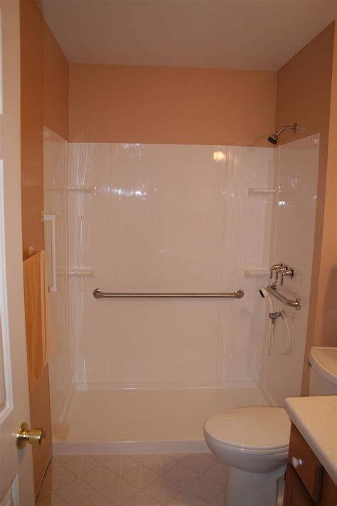painting fiberglass bathtub shower nest homes construction handicap shower