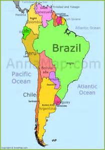 america on map south america map annamap