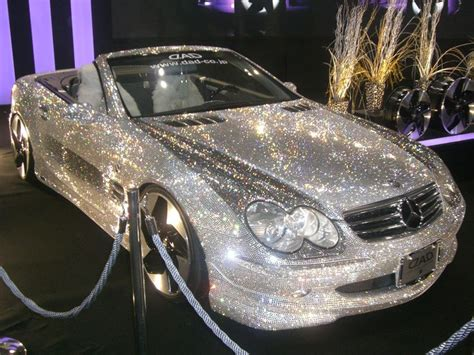 pink sparkly mercedes swarovski covered glitter car pink or sparkles