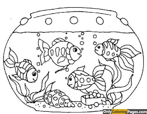 coloring page fish tank fish tank coloring pages free printable online fish tank