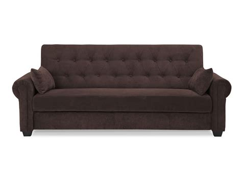 convertible sofa andrea convertible sofa java by serta lifestyle