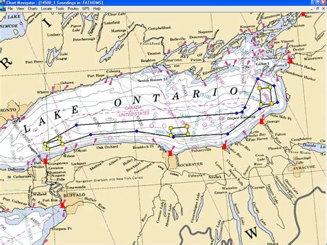ontario canada lake maps coast guard firing ranges