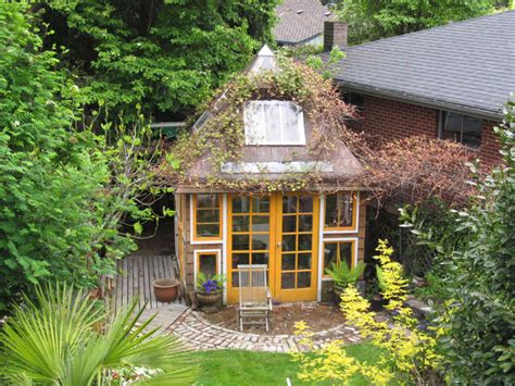 greenhouse  potting shed      windows