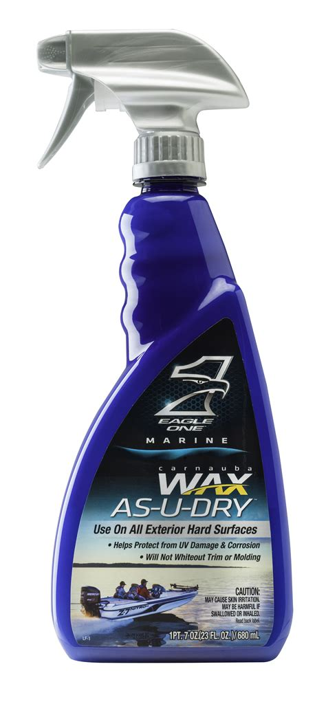 boat wax spray new eagle one marine wax as u dry spray wax now available