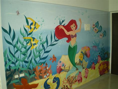 hand painted wall design my work pinterest discover play school classroom wall painting thana ghatkoper mulund