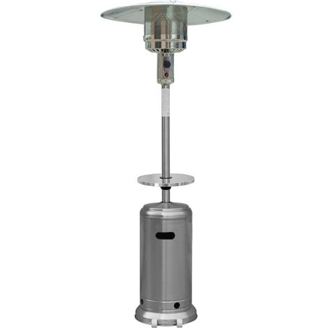 Table For Patio Heater Hiland Stainless Steel Patio Heater With Table By Az Patio Heaters At Garden Sensation