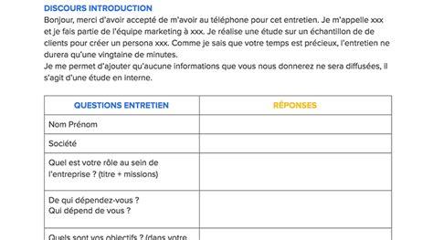 Grille D Entretien Semi Directif Exemple by Entretien Persona Comment R 233 Aliser Des Entretiens Semi