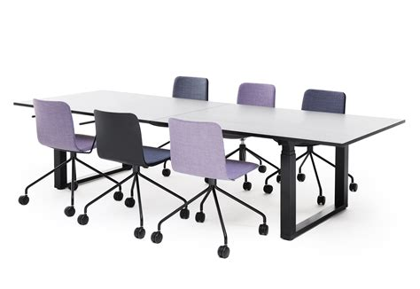 Adjustable Height Meeting Table Frankie Height Adjustable Conference Table By Martela Stylepark