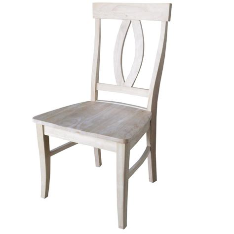 Unfinished Dining Chairs International Concepts Verona Unfinished Wood Dining Chair Set Of 2 C 170p The Home Depot