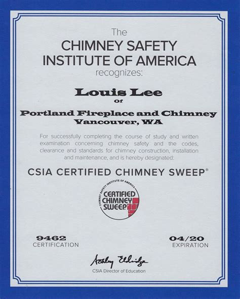 Chimney Inspection Vancouver Wa - licenses affiliations portland fireplace and chimney
