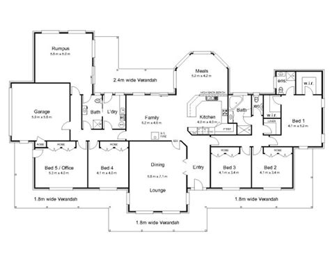 5 bedroom floor plans australia the bourke 171 australian house plans