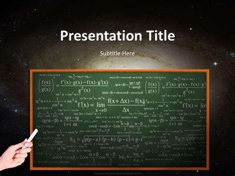 free chalkboard powerpoint template 20247 science chalkboard powerpoint template 1 free