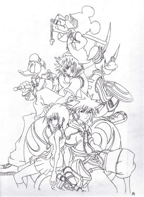 free printable kingdom hearts coloring pages for kids