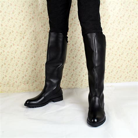 mens black knee high boots popular boots buy cheap boots lots from