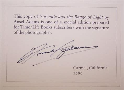 ansel adams yosemite and the range of light poster yosemite and the range of light signed ansel adams paul