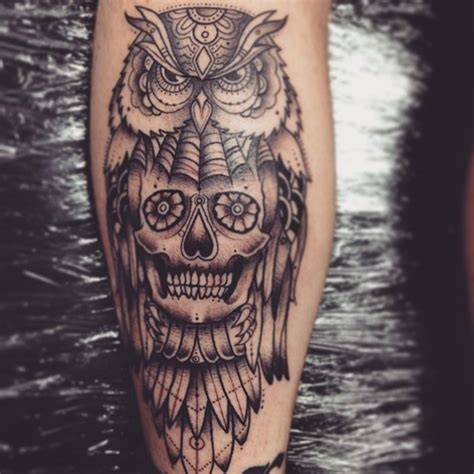 tattoo owl with skull meaning 50 owl and skull tattoo ideas for your first ink