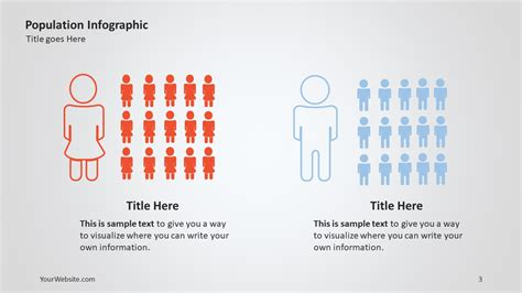 Population Powerpoint Infographic Slide Ocean Demographic Infographic Template Powerpoint