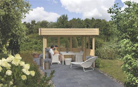 kleine pavillons pavillon karibu flachdach 2 holz pavillon ebay