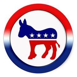democratic symbol and color democratic symbol classic sticker zazzle
