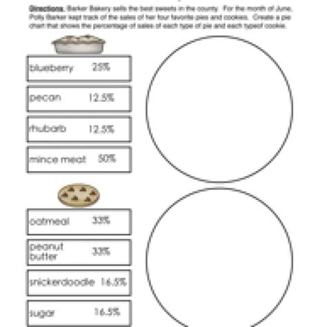 Pie Graph Worksheets by Pie Graphing Pies Pie Graphs Worksheet 1