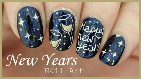 new year nail design happy new year nail