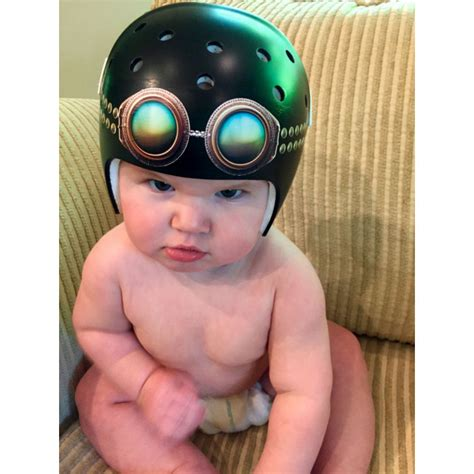 helmet design for babies aviator goggles cranial band decoration from high quality