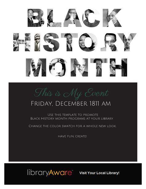 black history month colors use this template to promote black history month programs