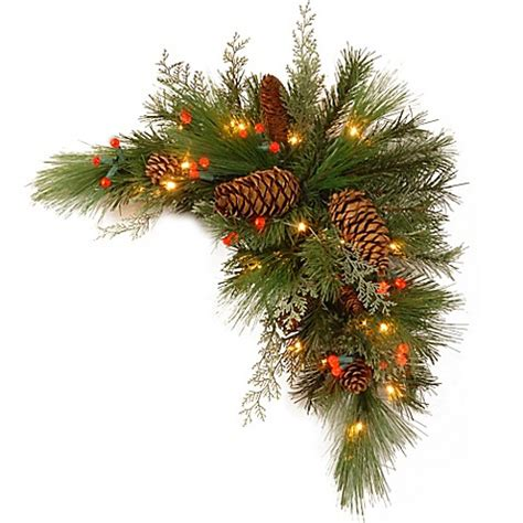 kissing ball with lights national tree company 30 inch white pine kissing ball with