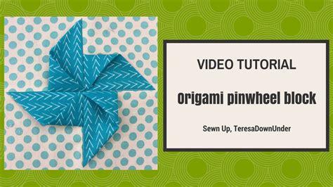 origami quilt tutorial origami pinwheel block tutorial