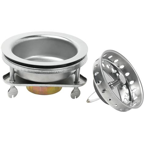 Kitchen Sink Stopper That Works Glacier Bay Ez Lock Sink Strainer In Stainless Steel 7045 104ss The Home Depot