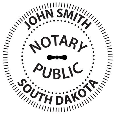 South Dakota Background Check South Dakota Notary Embosser
