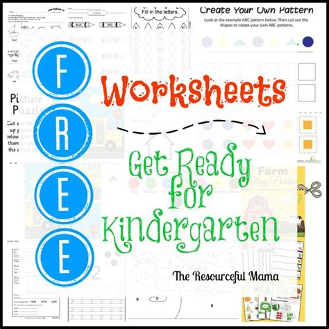 kindergarten readiness test worksheets 1000 ideas about