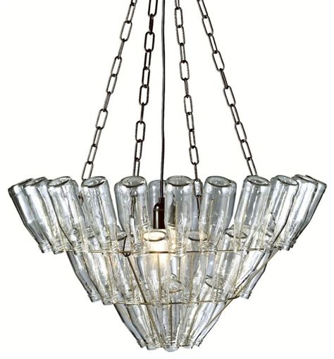 Glass Bottle Chandelier Leitmotiv Glass Bottle Chandelier Large Farmhouse Chandeliers By Modernistlighting