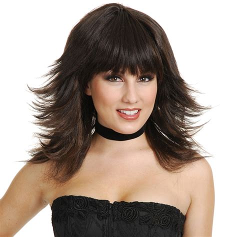 long layered and feathered wig hairstyle for black women feathered wigs for black women layered and feathered wig
