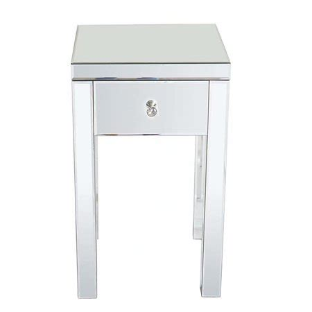 Small Mirrored Nightstand by Cottcuboaba Modern And Contemporary Small 1 Drawer