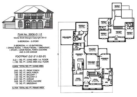 5 rooms house plans 5 bedroom to estate under 4500 sq ft