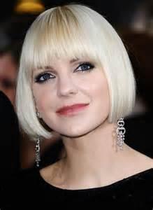 platinum bob hairstyles pictures anna faris short bob haircut platinum blonde bob cut