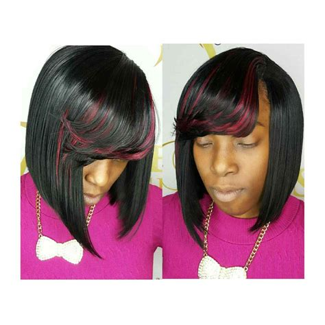 sew in hairstyles with bangs sew in weave bob hairstyles with bangs justswimfl com