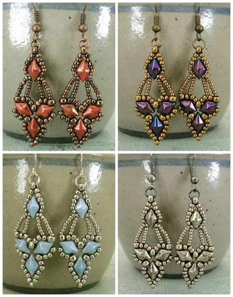Beaded Earrings best 25 beading patterns free ideas on seed