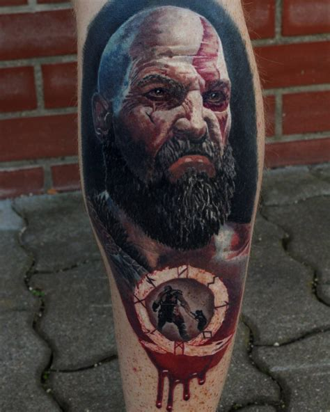 kratos tattoo kratos by michel schwarzenberger