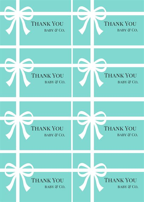 printable thank you tags for baby shower free printable baby shower favor thank you tags free owl