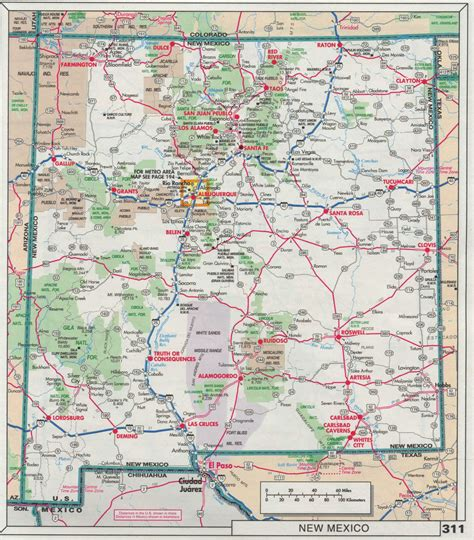 new mexico highway map road map new mexico mexico map