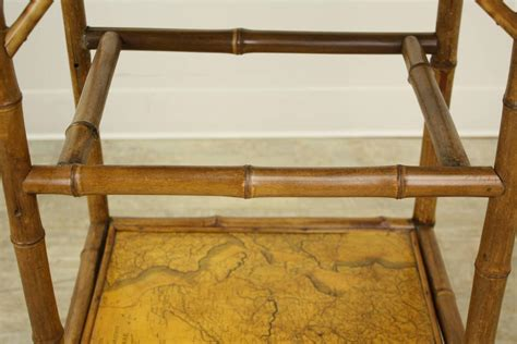 Decoupage Tables For Sale - antique bamboo decoupage side table with world maps for