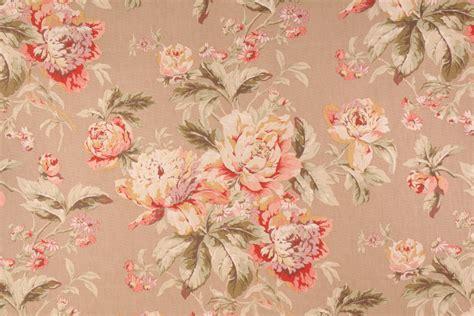 waverly drapery fabric waverly fleuretta printed cotton drapery fabric in chutney