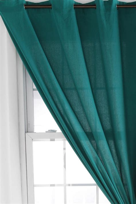 Teal Grommet Curtains Grommet Top Solid Curtain Teal Curtains Teal And Curtains