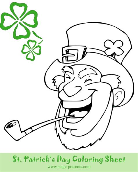 st s day coloring sheet two free st s day coloring sheets stage presents