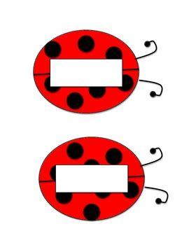 free printable ladybug name tags free printable ladybug tags google search ladybugs