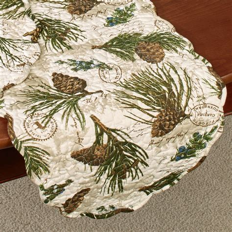 pine cone table walk in the woods pine cone quilted table linens