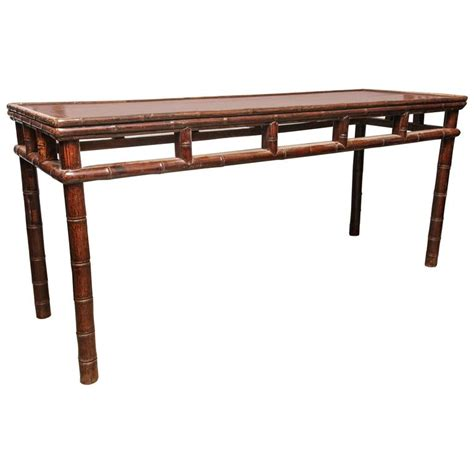 long sofa tables furniture long console table with bamboo details for sale at 1stdibs